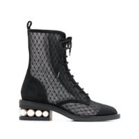 Nicholas Kirkwood Ankle Boot Casati Com Mesh - Black