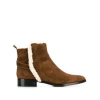 Parallèle Shearling Ankle Boots - Marrom
