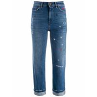Weekend Max Mara Calça Jeans Cropped Com Estampa De Estrela - Azul