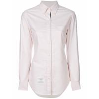 Thom Browne Camisa Slim Com Abotoamento - Rosa