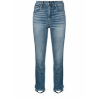 3X1 Cropped High Waisted Jeans - Azul