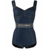 Dolce & Gabbana Body Jeans Com Logo - Azul