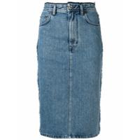 Acne Studios Saia Lápis Jeans - Azul