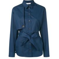 Cédric Charlier Camisa Com Cinto - Azul