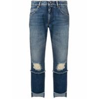 Dolce & Gabbana Calça Jeans Com Barra Assimétrica - Azul