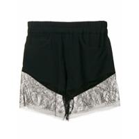 Almaz Lace Trim Shorts - Preto