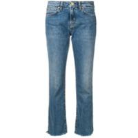 Two Denim Calça Jeans Flare Cropped Com Cintuta Baixa - Azul