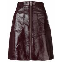 Mcq Alexander Mcqueen Short Zip-Up Skirt - Vermelho