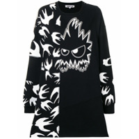 Mcq Alexander Mcqueen Printed Sweater Dress - Preto
