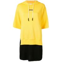 Izzue Vestido Bicolor Com Capuz - Amarelo