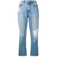 Escada Sport Calça Jeans Cropped Cintura Alta - Azul
