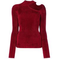 Mrz Cut-Detail Sweater - Vermelho