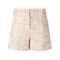 Blanca Vita High-Waisted Tweed Shorts - Neutro