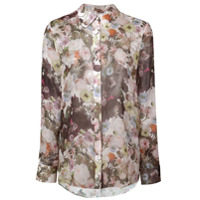 Adam Lippes Floral Print Shirt - Branco