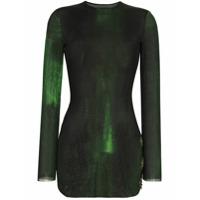 Louisa Ballou Vestido Degradê - Verde