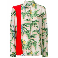 Stella Mccartney Camisa Estampada De Seda - Estampado