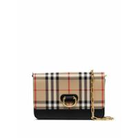 Burberry Mini Check Shoulder Bag - A1189 Black/antique Yellow