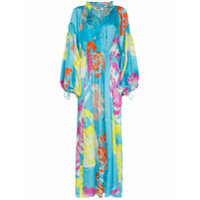 All Things Mochi Vestido Longo Fafia Com Amarração - Azul