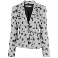 Jason Wu Collection Blazer Com Estampa Floral E Stretch - Preto