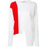 Stella Mccartney Blusa De Moletom De Tricot Assimétrica - Branco