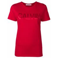 Calvin Klein Jeans Logo T-Shirt - Vermelho