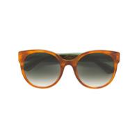 Gucci Eyewear Óculos De Sol Arredondado - Marrom
