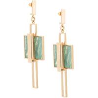 Crystalline Par De Brincos - Verde
