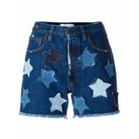 Faith Connexion Short Jeans Com Estrelas - Azul