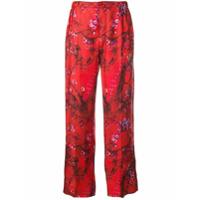 F.r.s For Restless Sleepers Calça Estampada - Vermelho
