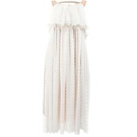 Litkovskaya Vestido Com Bordado - Branco