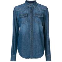 Saint Laurent Camisa Jeans Mangas Longas - Azul