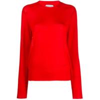 Bottega Veneta Suéter Decote Careca De Tricô - Vermelho