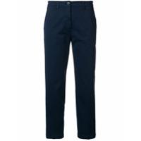 Department 5 Calça Chino Cropped - Azul