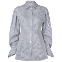 Maggie Marilyn Pinstripe Button-Down Shirt - Azul