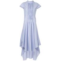 Teija Vestido Longo Assimétrico - Azul