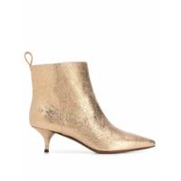 L'autre Chose Ankle Boot Com Bico Fino - Dourado
