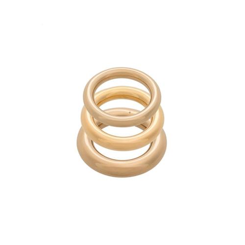 Imagem de Charlotte Chesnais Conjunto de anéis 'Brahma' - Metálico