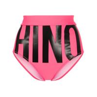 Moschino Calcinha De Biquíni Com Estampa De Logo - Rosa