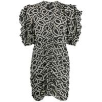 Isabel Marant Vestido Com Padronagem - Preto