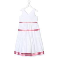 Piccola Ludo Vestido Com Contraste - Branco