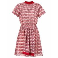 Pop Up Store Vestido Curto Estampado E Amarração - Vermelho