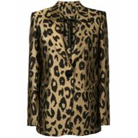 Petar Petrov Justin Tailored Leopard Print Jacket - Dourado