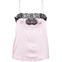 Dolce & Gabbana Blusa Com Recortes Em Renda - Rosa