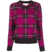 Michael Kors Embellished Tartan Sweater - Roxo