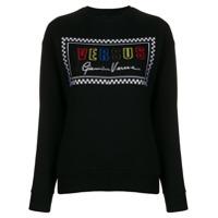 Versus Suéter Com Logo Bordado - Preto