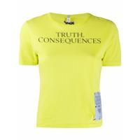 Mcq Camiseta Com Patch De Logo - Verde