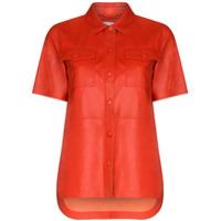 Stand Studio Danna Faux Nappa Leather Shirt - Vermelho