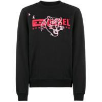 Diesel Suéter Mangas Longas Com Estampa De Logo - Preto