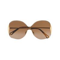 Chloé Óculos De Sol Oversized Curtis - Dourado