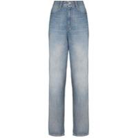 Isabel Marant Étoile Calça Jeans Cintura Alta Corsy - Azul